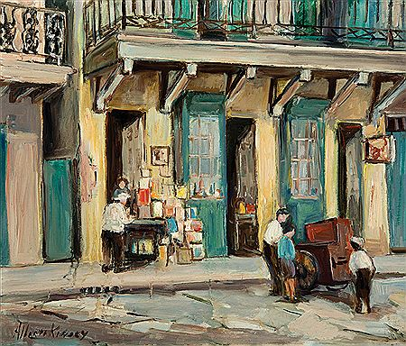 "Alberta Kinsey-""French Quarter Book Store"""