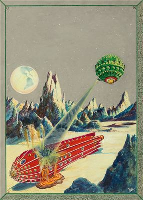 Frank Rudolph Paul-The Moon Conquerors, Science Wonder Quarterly cover, Winter 1930