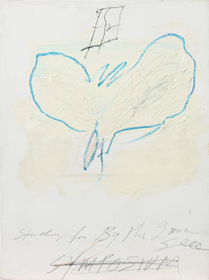 Cy (Edwin Parker Jr.) Twombly-STUDY FOR BY THE IONIAN SEA