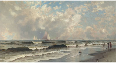 Alfred Thompson Bricher-Afternoon, Southampton Beach