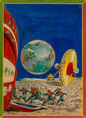 Frank Rudolph Paul-The Vanguard to Neptune, Wonder Stories Quarterly cover