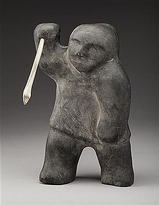 David Ikutaaq-Spear Hunter  <br><font color=brown>ONLINE only auction</font>