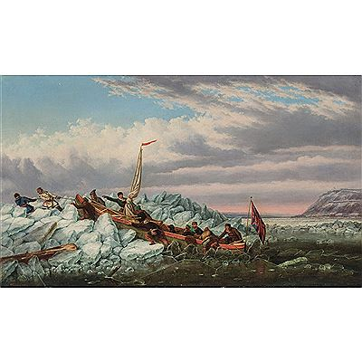 Cornelius David Krieghoff-CROSSING THE ICE WITH THE ROYAL MAIL