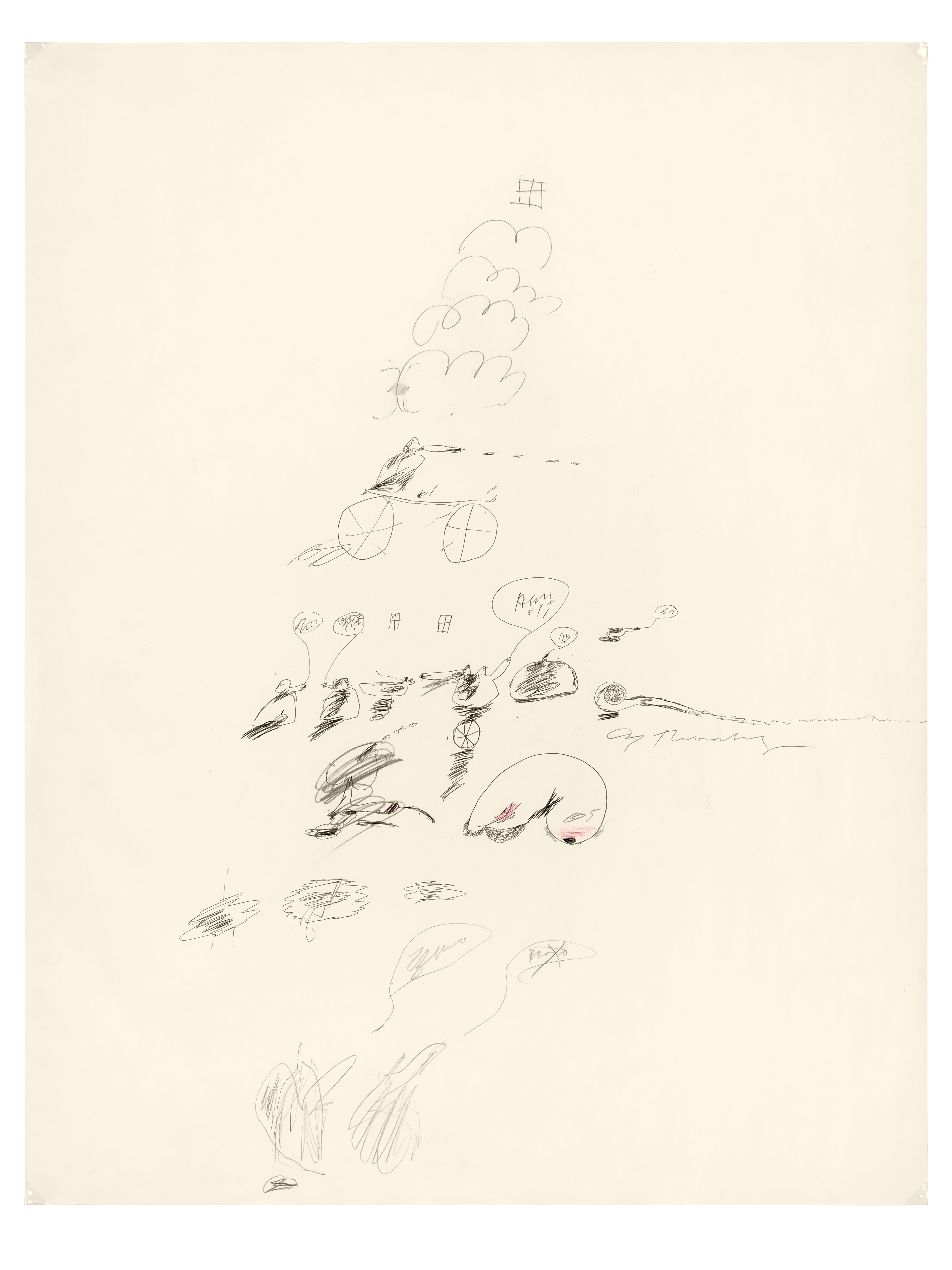 Cy (Edwin Parker Jr.) Twombly-Untitled, 1963-64