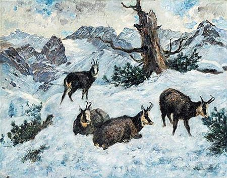 Curt Meyer-Eberhardt-The chamois in the snow
