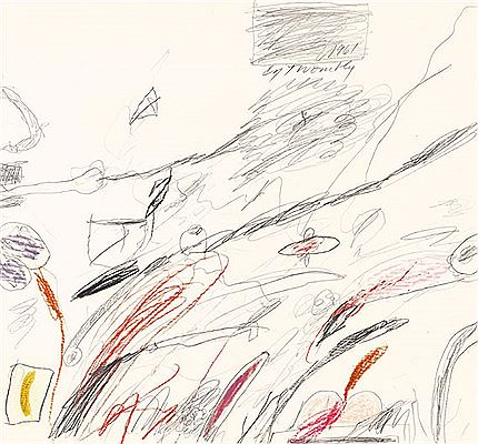 Cy (Edwin Parker Jr.) Twombly-Untitled (Notes from a Tower), 1961
