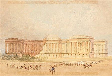 Welby Brown Jackson-CALCUTTA, GOVERNMENT HOUSE - SOUTH FRONT, 1863