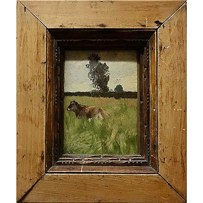 Robert Meyerheim-IN THE MEADOW  <br><font color=brown>ONLINE only auction</font>