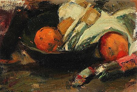 Sally Philipsen-Still life with fruit.  <br><font color=brown>ONLINE only auction</font>