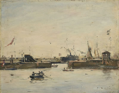 Eugene Louis Boudin-Le Sas à Trouville<font color=brown> - Auction postponed due to COVID-19. New date TBD</font>