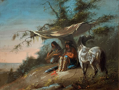 Alfred Jacob Miller-Two Arapaho