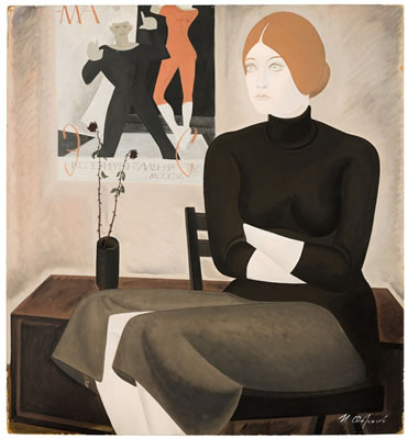 Igor Obrosov-PORTRAIT OF THE ACTRESS O.S.  <br><font color=brown>ONLINE only auction</font>