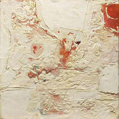 Bruce Connor-Untitled (Abstract Over Orange), 1957