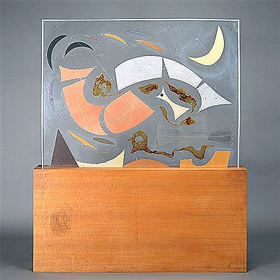 Emmy Lou Packard-Lighted Abstract Plexiglas Composition