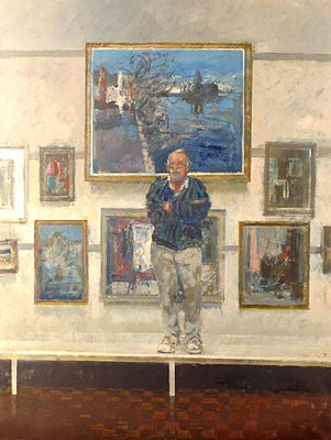 Tom Coates-Portrait of William Bowyer at the New English Art Club