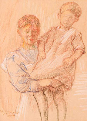 Michael Axelos-Mother and Child
