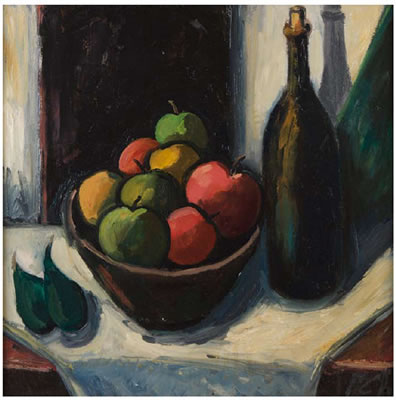 Peter Collis-Still Life with Apples and Pears