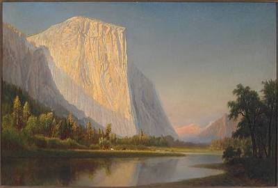 Gilbert Davis Munger-A Small Encampment, El Capitan, in Yosemite Valley