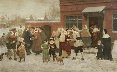George Henry Boughton-Party for New Year's Day in New Amsterdam