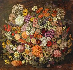 Tony Muller-Still life with flowers