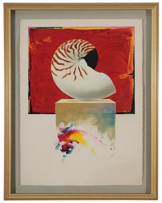 Louis W. Jones-Untitled, Nautilus on Red, #34, 1994