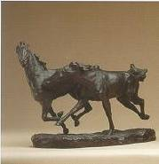 Erwin S. Christman-Galloping Horses: A Bronze Group