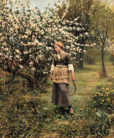 Daniel Ridgway Knight-Coming from the Garden