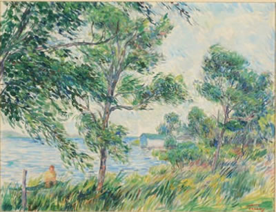 Samuel George Cahan-Summer day on the lake