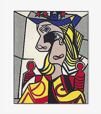 Roy Lichtenstein-Woman with Flowered Hat