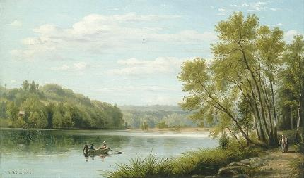 William Rickarby Miller-On the Croton River, Sing
