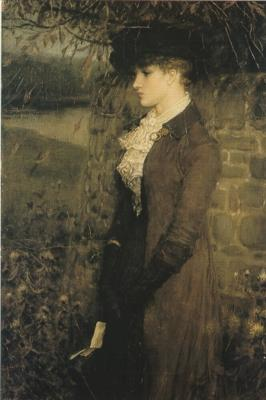 George Henry Boughton-Falling Leaves