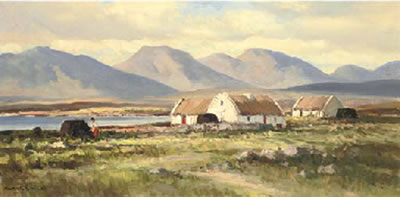 Maurice Canning Wilks-Cottages at Ballyconneely, Connemara