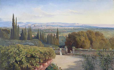 Edward Lear-View of Florence from Villa Petraja