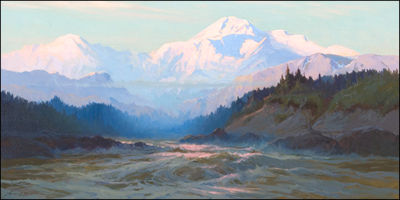 Sydney Mortimer Laurence-Mt. McKinley from the Tokositna River