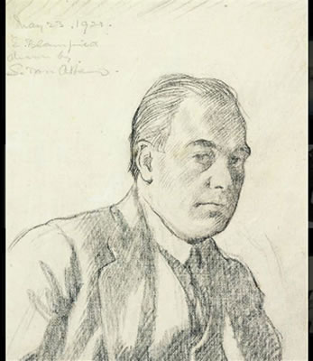 Salomon van Abbe-Portrait of Edmund Blampied