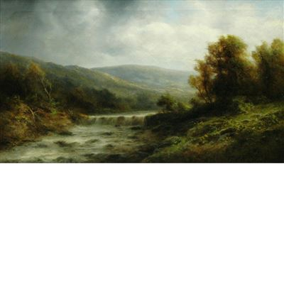 Thomas Griffin : Landscape with Falls and Rapids, Cloudy Day