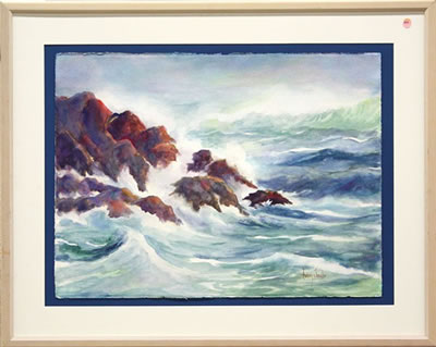 Audrey Jacobs-Seascape with Crashing Waves