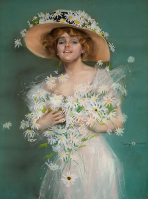 Penhryn Stanlaws-Lady with Daises
