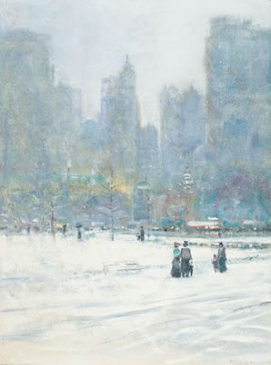 Tom Perkinson-Central Park in the Snow, NYC