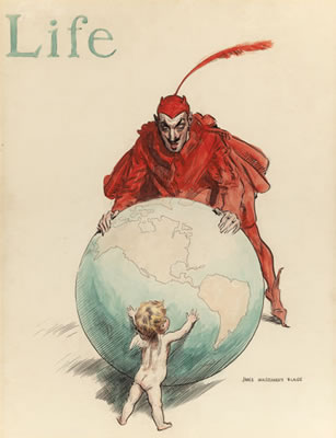 James Montgomery Flagg-The World: Good versus Evil, LIFE magazine cover