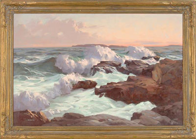 Alphonse Joseph Shelton-Evening, Ocean Point