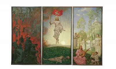Hans Thoma-OSTERTRIPTYCHON (3 parts as one work)
