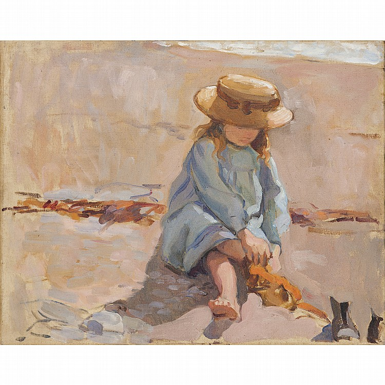 Florence St John Cadell-BOOTS OFF ON THE BEACH