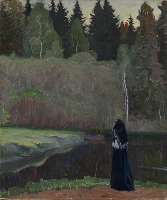 Mikhail Vasilievich Nesterov-The Nightingale is Singing