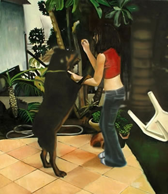 Anat Ben Shaul-A Girl and a Dog