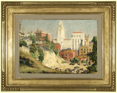 Emil Jean Kosa, Jr.-Los Angeles City Hall and Times Building from Bunker Hill