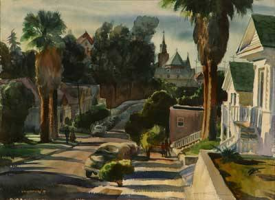 "Emil Jean Kosa, Jr.-""Bunker Hill - Downtown, Los Angeles"""