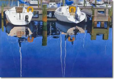 Don Nagel-Harbor Reflection I