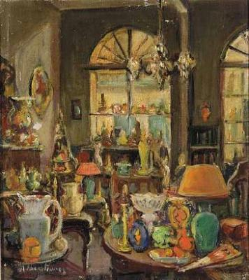 Alberta Kinsey-Interior of Antique Shop, Rue Royale, French Quarter