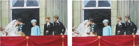 Qing Li-Wedding (There are six differences in the two paintings), 2006 (2)